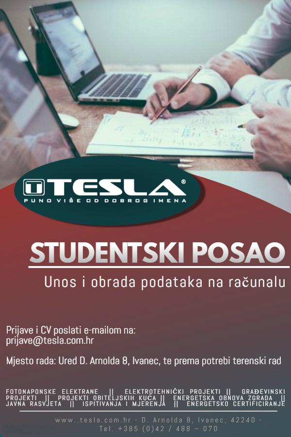 Oglas za studentski posao
