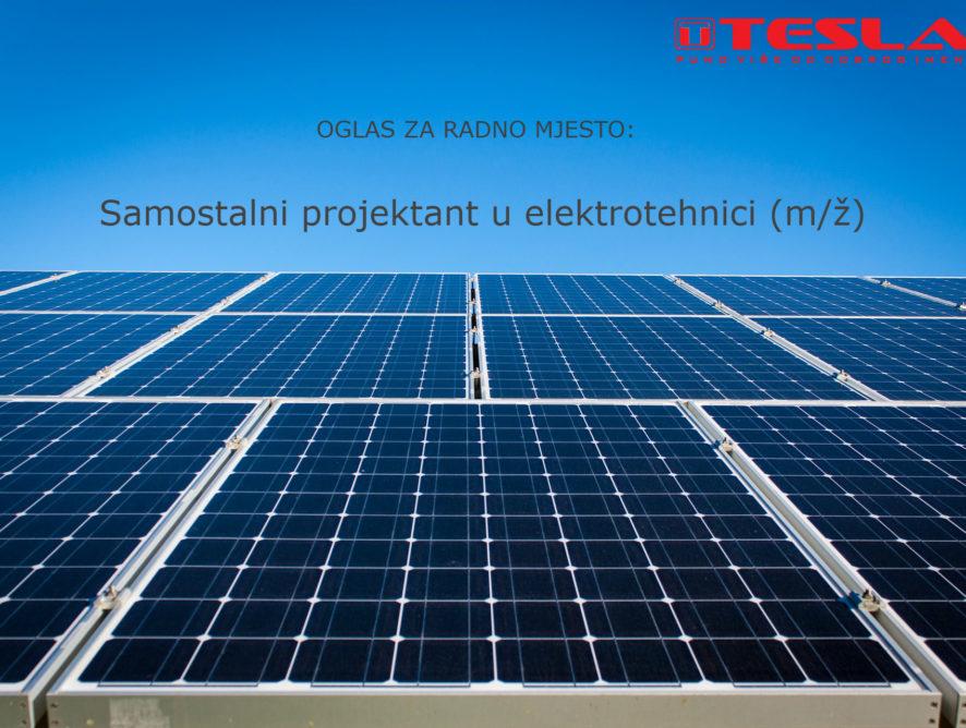 OGLAS ZA RADNO MJESTO: Samostalni projektant u elektrotehnici (m/ž)